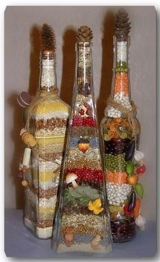 Мастер класс декоративные бутылки своими руками