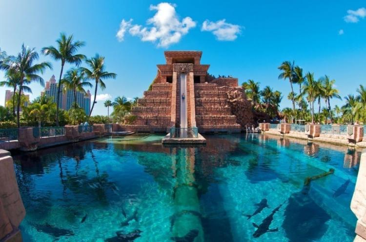 Leap of Faith (аквапарк Atlantis Paradise Island Resort, остров Парадайз, Багамы)