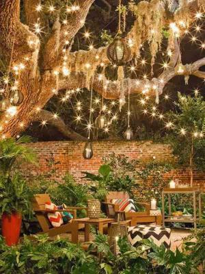 Летние вечера: 15 идей для освещения двора у дома