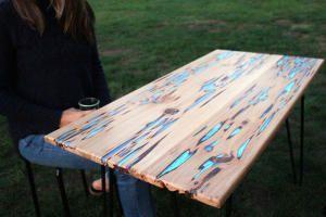 Как сделать флуоресцентный стол. Инструкция от Майка Уоррена