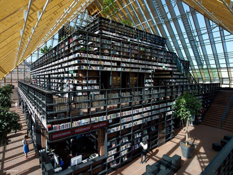 Книжная гора, Спийкениссе (Book Mountain), Нидерланды