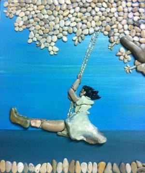 Картины из пляжной гальки, созданные итальянцем Стефано Фурлани