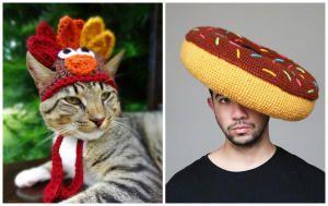 Утепляемся: креативные вязанные головные уборы для людей и животных