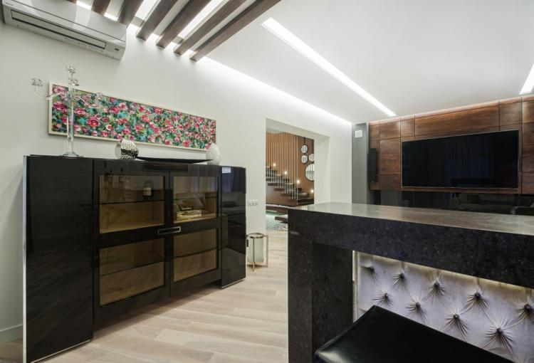 Cucine con frigo americano : Inter er simple elegance vid lvivskih dizayneriv